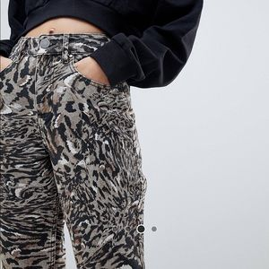 ASOS abstract leopard print jeans